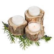 PAEGLIS eko-sojas vaska svece ar kadiķa ēterisko eļļu kadiķkokā