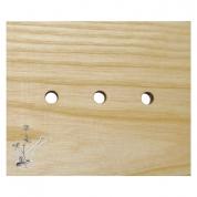ZIEPJU TRAUKS no oša koka 12x10 cm, tasinstūra, izmantojams no abām pusēm