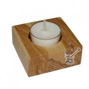 SVEČTURIS tējas svecei, 7x7cm, dažādu koku (osis, ozols u.c.)