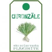 CITRONZĀLE. Eko sojas vaska aromātplāksnīte ar citronzāles ēterisko eļļu