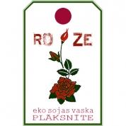 ROZE. Eko sojas vaska aromātplāksnīte ar rozes ēterisko eļļu
