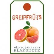 GREIPFRŪTS. Eko sojas vaska smaržplāksnīte ar greipfrūta u.c. citrusu ēterisko eļļu