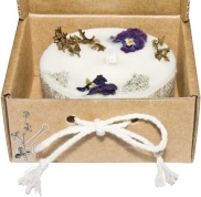 CILINDRISKAS eko-sojas vaska sveces ar ēteriskām eļļām, kartona kastītē