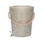 DĀRZA SVECE betona spainītī, sojas vasks ar citronellas ēterisko eļļu