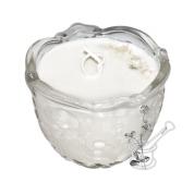 ZIEMASSVĒTKU EŅĢELIS: sojas vaska svece satinēta stikla svečturī, ar KRUSTNAGLIŅU ēterisko eļļu